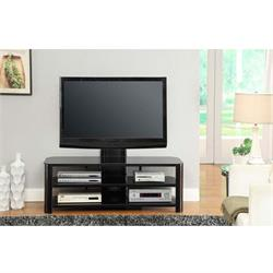 "Stanford TV STAND W/ TV Mount upto 50""Glass/dark TB276G29 Image"