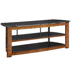 "TV STAND up to 52"" 3-shelf wood w/tempered glass TO352GBW Image"