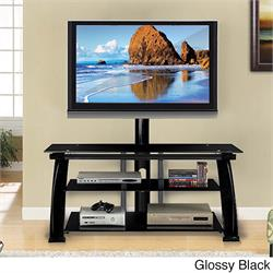 "TV STAND up to 52""Glossy Black, tempered glass TO052G29 Image"